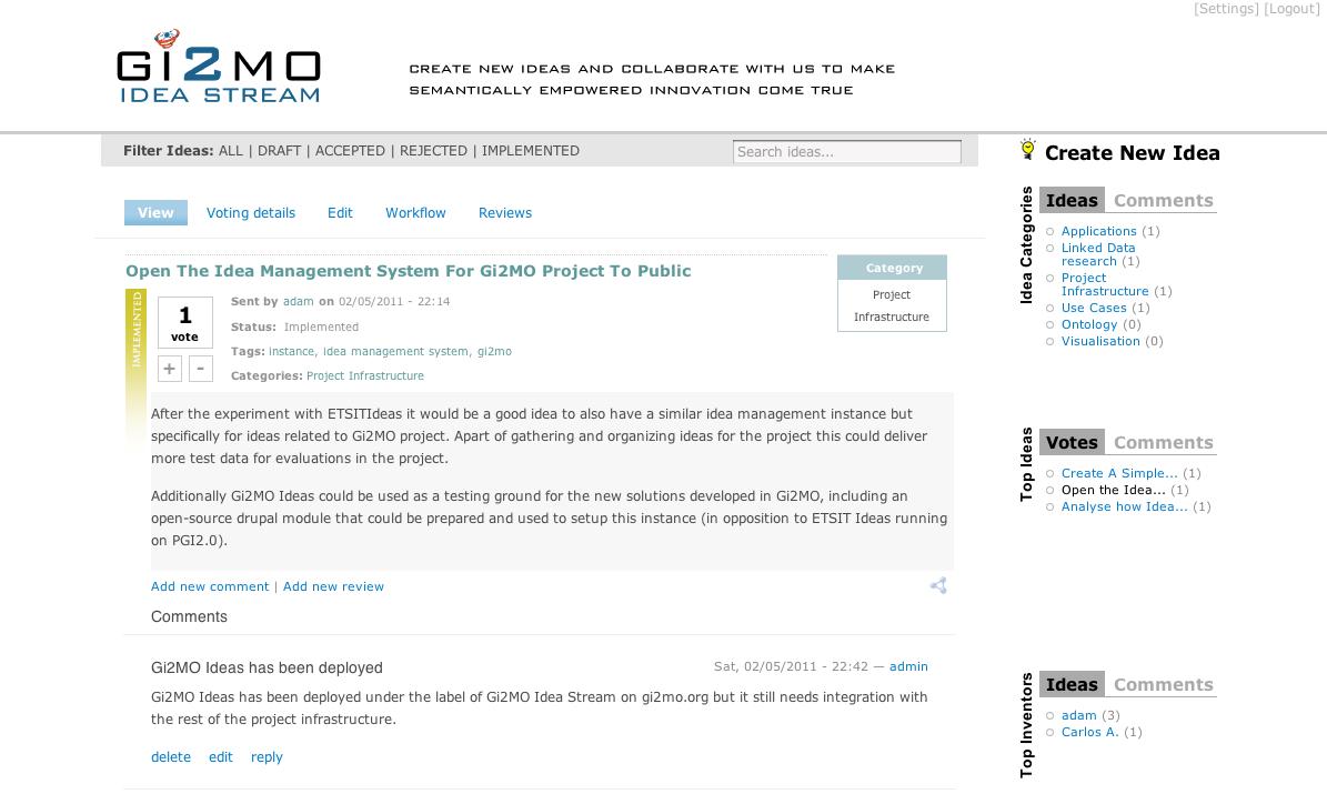 Gi2mo Project Homepage Ideastream