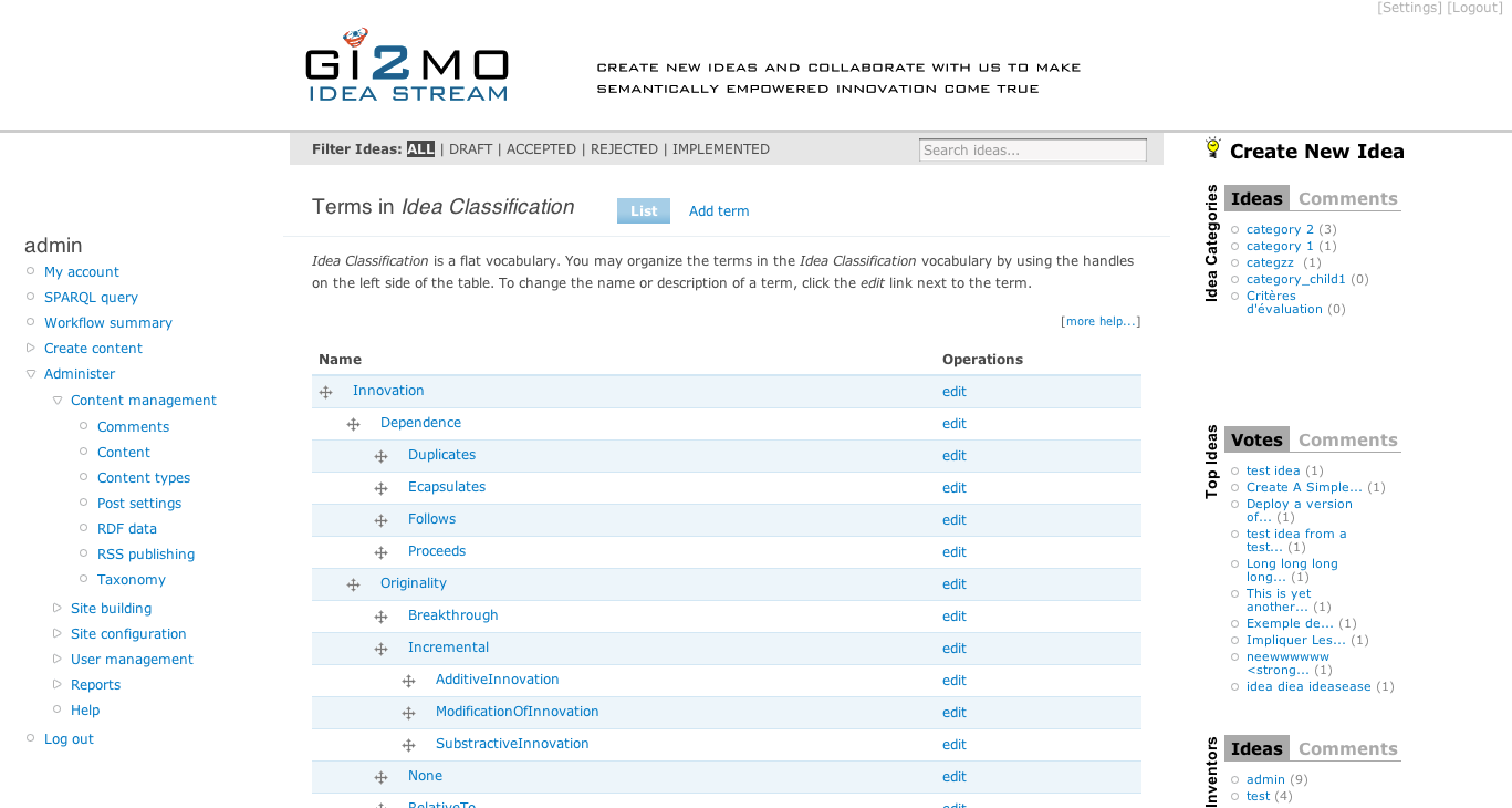 gi2mo project homepage using gi2mo types with ideastream